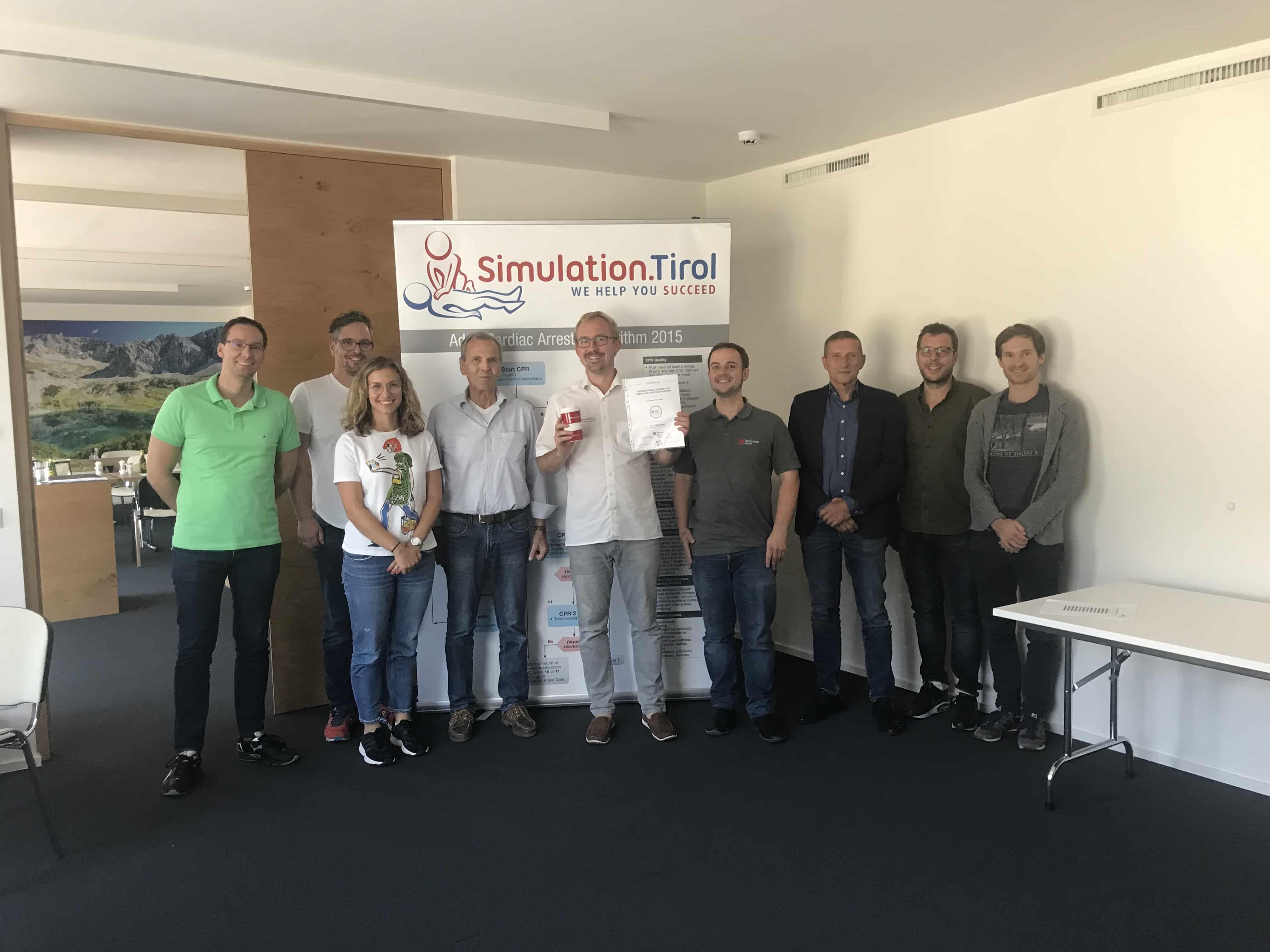 Successful recertification of Simulation.Tirol as International Training Site