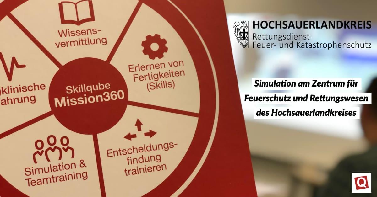 Simulation am Zentrum für Feuerschutz und Rettungswesen des Hochsauerlandkreises